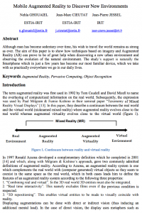 Mobile Augmented Reality Applications to Discover New Environments